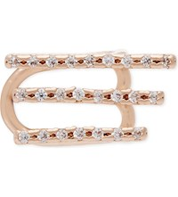 Astrid And Miyu Crystal Armour 18Ct Rose Gold Ear Cuff 18K Rose Gold