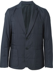 Paul Smith London Two Button Quilted Blazer Blue