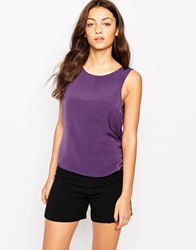 Vero Moda Sleeveless Woven Top Purplevelvet