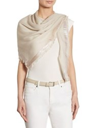 Loro Piana Luna Cashmere And Silk Scarf Shady Slate Earl Grey