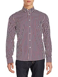 Victorinox Tailored Fit Sellen Striped Sportshirt Ibach Red