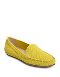 Aerosoles Over Drive Suede Moc Toe Drivers Yellow