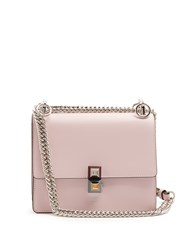 Fendi Kan I Leather Cross Body Bag Light Pink