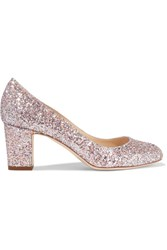 Jimmy Choo Billie Glittered Leather Pumps Pastel Pink