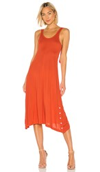 Rag And Bone Allegra Tank Dress In Red. Fire Red