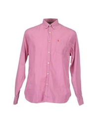 Jaggy Long Sleeve Shirts Garnet