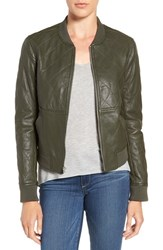 Paige Women's 'Zoey' Quilted Leather Bomber Jacket