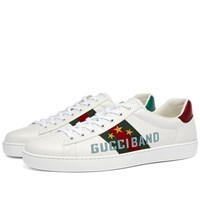 Gucci New Ace Band Logo Sneaker White