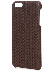 The Case Factory Brown Woven Leather Iphone 6 Case