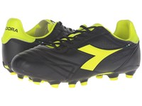 Diadora Brasil K Plus Mg 14 Black Yellow Fluo Men's Soccer Shoes