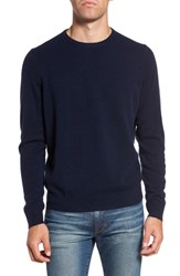Nordstrom Shop Cashmere Crewneck Sweater Navy Charcoal