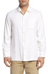 Tommy Bahama Men's Big And Tall Catalina Twill Classic Fit Silk Camp Shirt Coconut