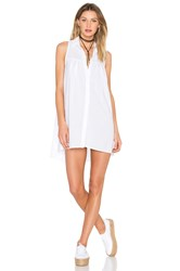 York Street Sleeveless Shift Dress White