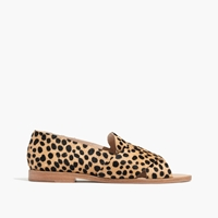 Madewell Loeffler Randall Hanelle Open Loafer In Cheetah Print Calfhair