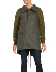 Sorel Conquest Carly Wool Coat Olive Green