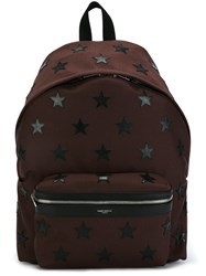 Saint Laurent 'City' Backpack Pink And Purple