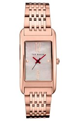 Ted Baker Women's London Rectangle Case Bracelet Watch 23Mm