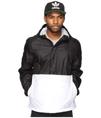 Adidas Berlin Windbreaker Black White Men's Clothing