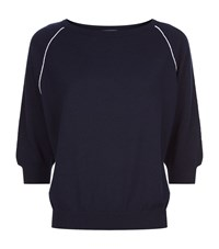 Malo Cashmere Piped Sweater Female Blue
