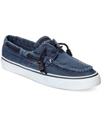 Sperry Women's Bahama Canvas Boat Shoes Women's Shoes Navy