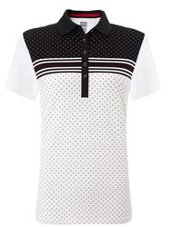 Callaway Dot And Stripe Polo White
