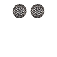 Shalom Pave Ball Front To Back' Earrings