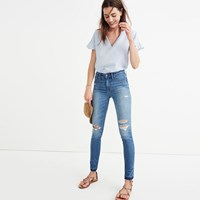 Madewell Taller 9 High Rise Skinny Jeans In Winifred Wash Drop Hem Edition