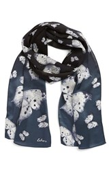 Women's Echo 'Snow Butterflies' Silk Oblong Scarf