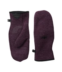 Outdoor Research Flurry Mitts Pinot Extreme Cold Weather Gloves Red