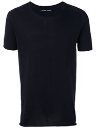 Hannes Roether Knit T Shirt Blue