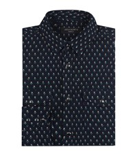 Allsaints Rosebud Long Sleeved Shirt Male Blue
