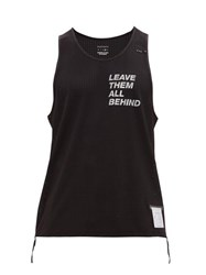 Satisfy Race Perforated Performance Tank Top Black