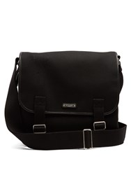 Saint Laurent Canvas And Leather Messenger Bag Black