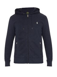 Polo Ralph Lauren Zip Through Cotton Blend Hooded Sweatshirt