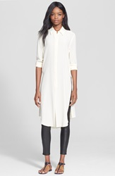 Equipment 'Pascal' Silk Tunic Nature White