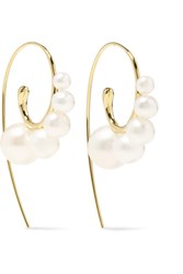 Ippolita Nova 18 Karat Gold Pearl Earrings One Size Gbp