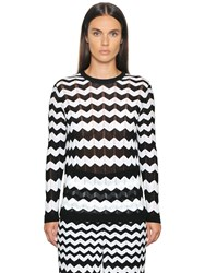 M Missoni Cotton Viscose Zig Zag Knit Sweater