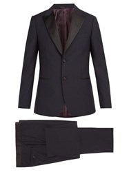 Paul Smith Single Breasted Wool Blend Tuxedo Navy
