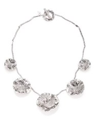 Coomi Silver Serenity Diamond And Sterling Silver Flower Necklace