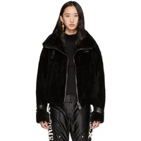 Misbhv Black Shearling Inside Out Jacket