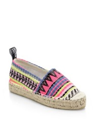 Love Moschino Woven Stripe Espadrilles Multicolor