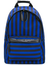 Ami Alexandre Mattiussi Zipped Backpack Men Leather Polyester One Size Blue