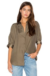 Atm Anthony Thomas Melillo Dolman Silk Blouse Army