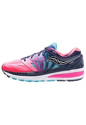 Saucony Hurricane Iso 2 Stabilty Running Shoes Blue Pink