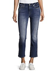 7 For All Mankind Straight Fit Ankle Length Jeans Blue
