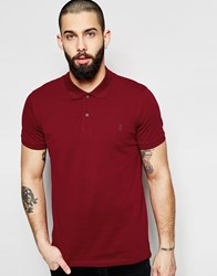 Only And Sons Pique Polo Shirt Red