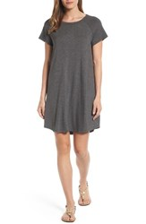 Bobeau Women's Back Cutout T Shirt Dress Charcoal Heather
