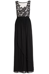 Quiz Black Crochet Flower Maxi Dress Black