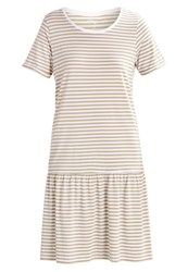 Selected Femme Sfmy Perfect Jersey Dress Slate Green Bright White