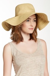 14Th And Union Paper Braid Floppy Hat Brown